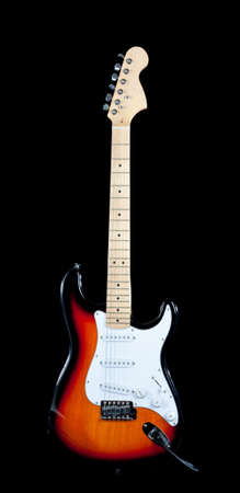 An electric guitar on a white background photo