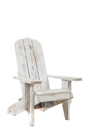 A white adirondack chair on a white background photo