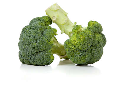 florets: Broccoli florets on a white background