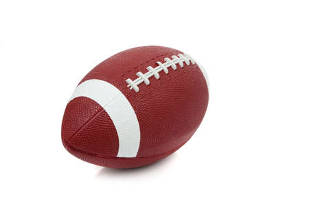 An american football on a white background photo