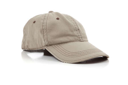 a khaki ball cap on a white background Reklamní fotografie