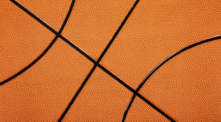 A leather textured basketball background