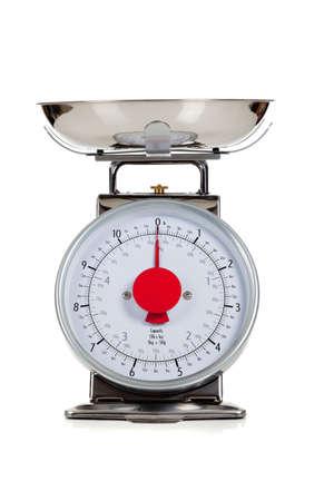 An empty food scale on a white background Reklamní fotografie - 6843236