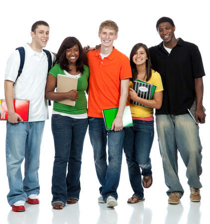Multicultural College students, male and female Stock Photo - 9601894