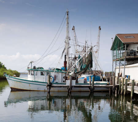 Commercial Fishing Boat in DOck photo