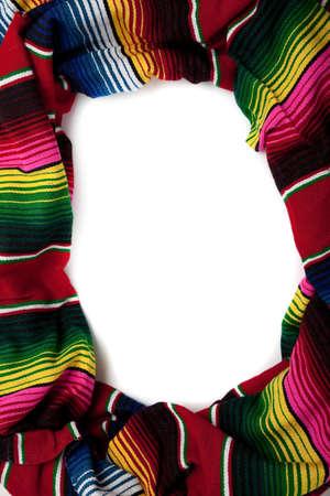 Mexicaanse Serape met kopiëren ruimte in het midden Stockfoto