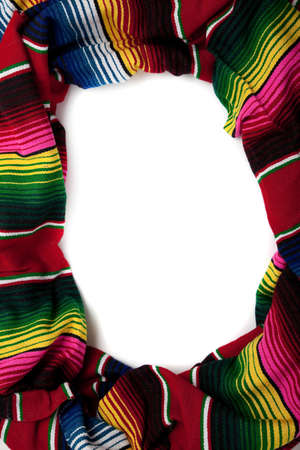 Mexican Serape with copy space in the middle photo