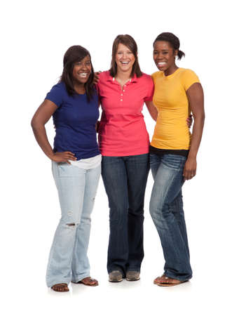 Multicultural College students, male and female Stock Photo - 9671356