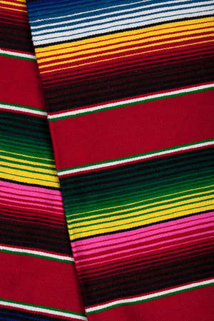 a Mexican Serape as a background
