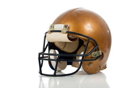 A gold football helmber on a white background Фото со стока - 9671806
