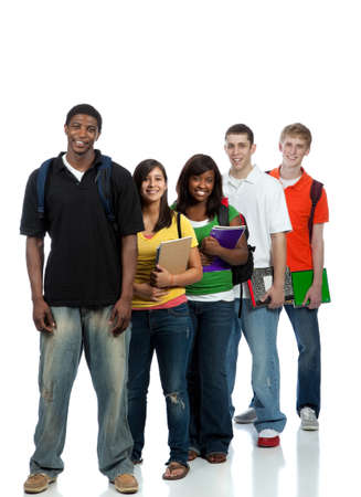 Multicultural College students, male and female photo