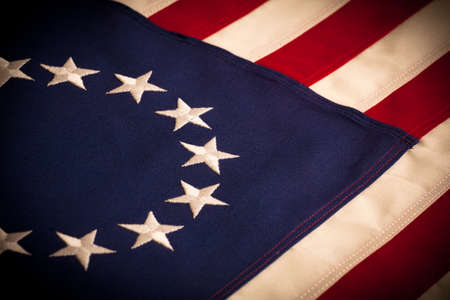 A Betsy Ross 13 star American Flag