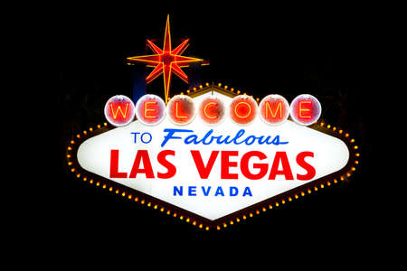 Welcome to fabulous Las Vegas sign at night Stock Photo - 12654057