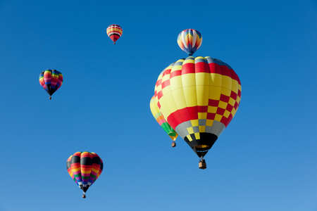 Colorful hot air balloons on a sunny day Stock Photo - 12654027