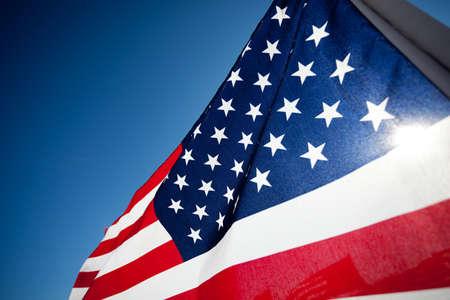 아메리: 공휴일, 재향 군인의 날, 독립 기념일, 9 ~ 11, 등을 기념하는 미국 국기의 큰 그룹