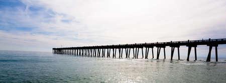 pensacola: The Pensacole pier with the sun shining through