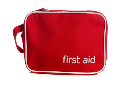 First Aid Kit petit rouge sur un fond blanc Banque d'images - 21158587