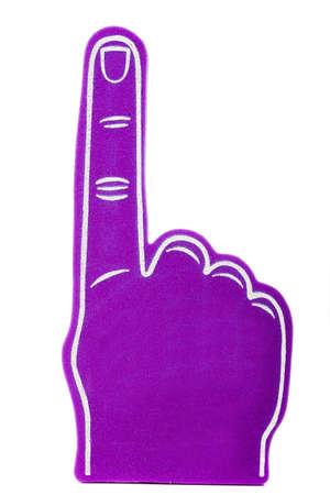 白地に紫の泡ファン指