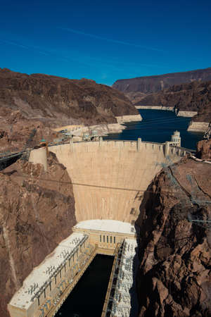 hoover: The famous Hoover Dam near Las Vegas Nevada, USA