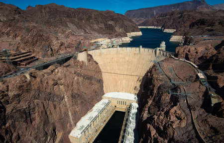 hoover dam: The famous Hoover Dam near Las Vegas Nevada, USA