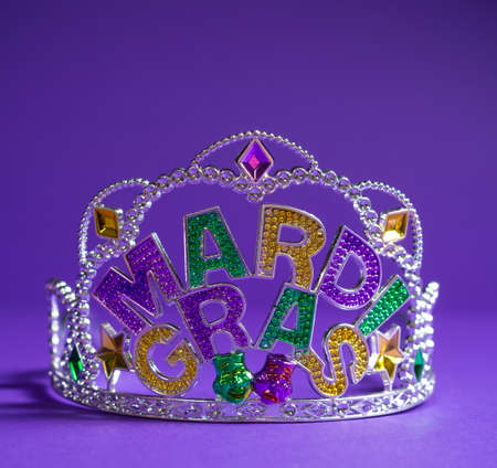 colorful Mardi Gras crown decoration photo