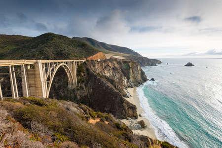 central california: The Historic Bixby Bridge on the Pacific Coast Highway California Big Sur