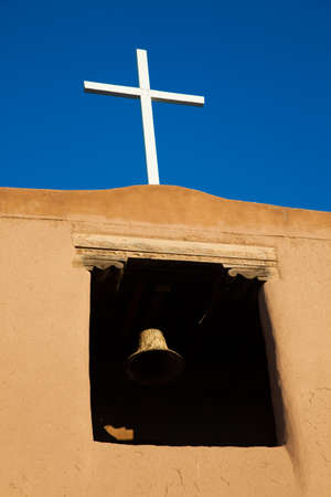 An old Spanish Mission in Santa Fe, New Mexico Stock Photo