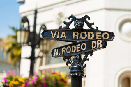 Rodeo Drive cross street signs photo