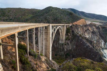 bixby: The Historic Bixby Bridge on the Pacific Coast Highway California Big Sur