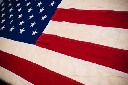 Macro or close-up of American flag use as a background for Memorial, Veterans or Independence day