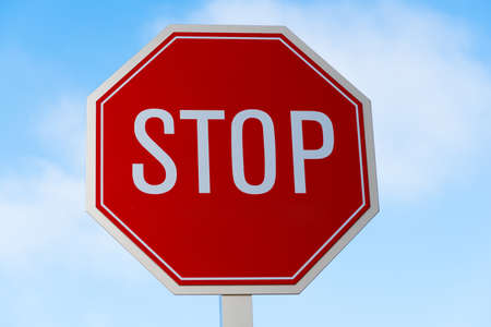 trafic: A stop and smell the ocean traffic, street sign in southern California Stock Photo