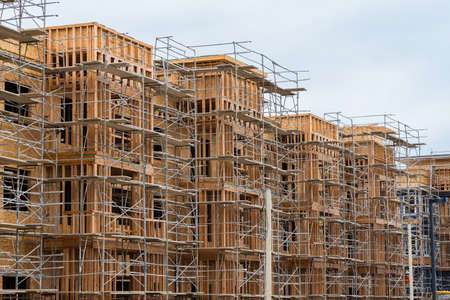 realestate: New wood frame apartment or condominium construction