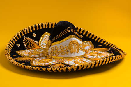 Un festivo negro mexicano, fieltro sombrero de mariachi