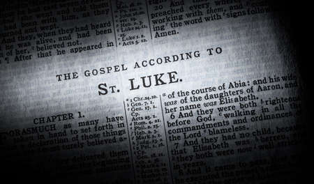 The beginning of the gospel of Luke in the King James Version of the Bible