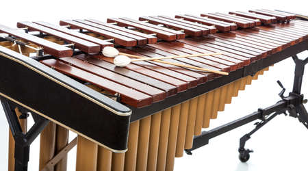 A Marimba with mallets on white 스톡 콘텐츠
