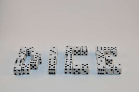 DICE spelled with dice