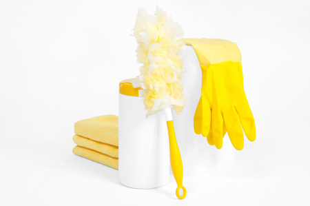 Cleaning supplies for housekeeping (stuff)
