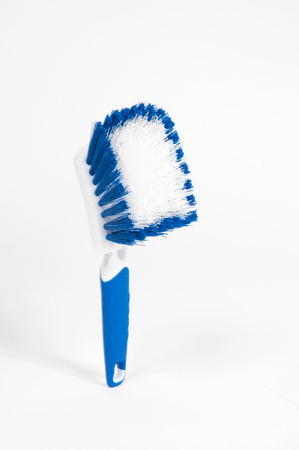 Blue brush for clean on white background