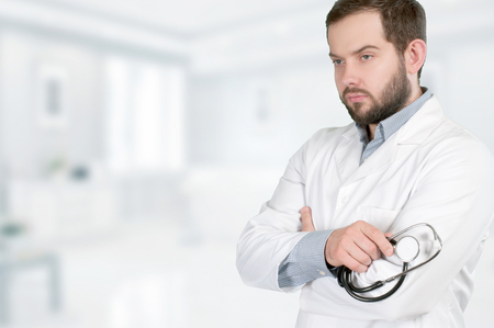 Doctor concept. Medical doctor with stethoscope
