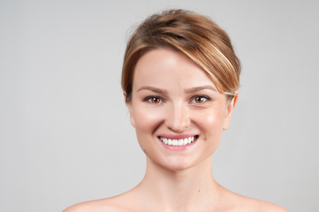 Concept of skin rejuvenation. Woman before and after cosmetic procedure, anti-age therapy