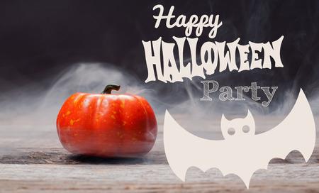 Happy Halloween. Spooky pumpkin with smoke in the dark night Banque d'images