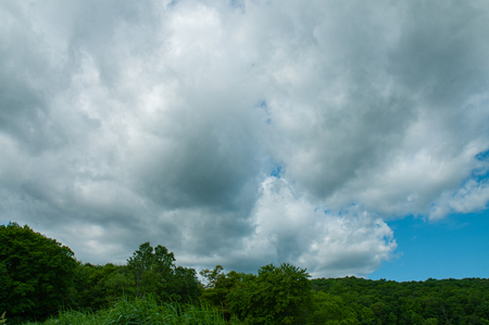 Cloudy sky. Dramatic dark cloudy sky, summer natural background
