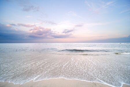 Ocean. Tropical paradise beach with white sand and blue sky