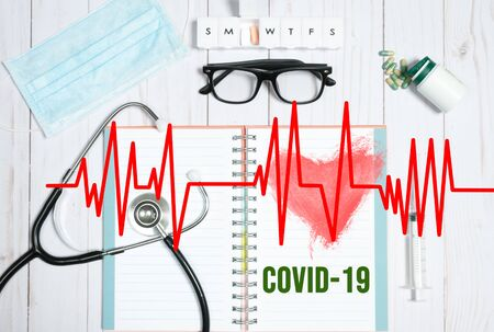 Healthcare concept. Outbreaking Cononavirus COVID-19