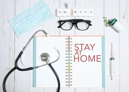 Healthcare concept. Outbreaking Coronavirus. Stay at home, quarantine Zdjęcie Seryjne