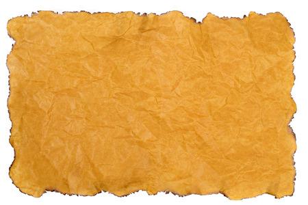 quemado: Borde blanco papel quemado