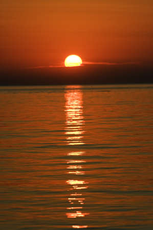 Sunset over the Adriatic sea Stock Photo
