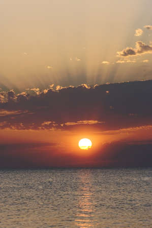 Sunset over the Adriatic sea Stock Photo