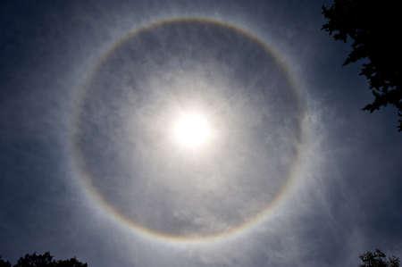 Sun halo (rainbow)
