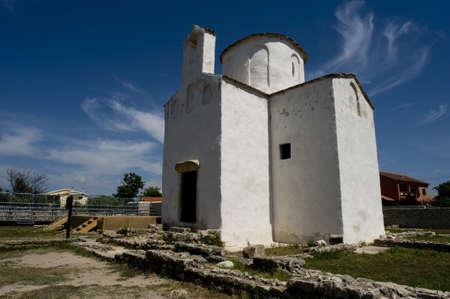 Church of St. Cross, Nin, Croatia Stock Photo